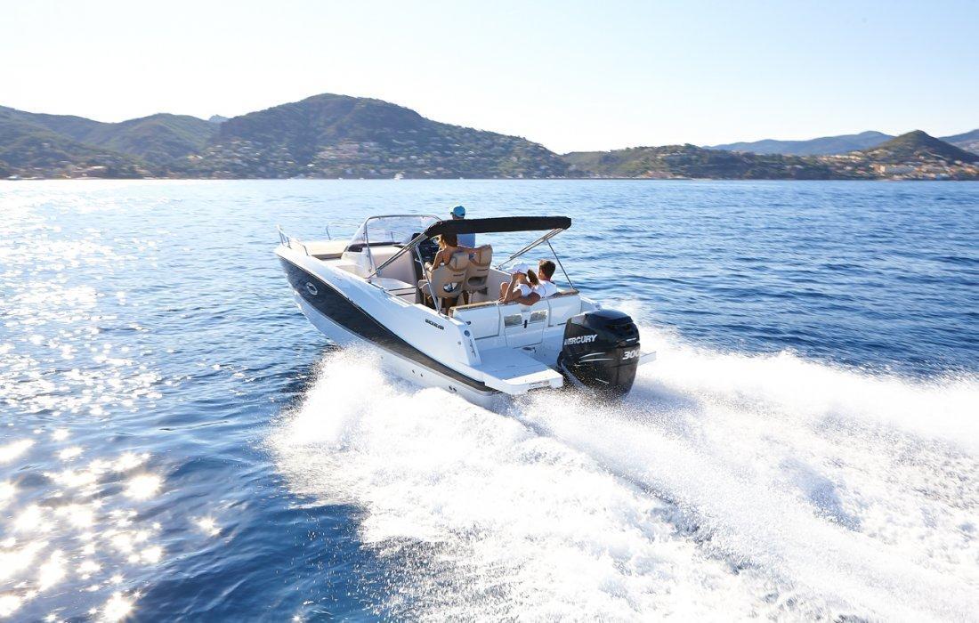 QUICKSILVER ACTIV  755 SUNDECK + MERCURY F250 XL DTS AMS V8 VERADO